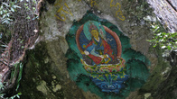 картины пишут просто даже на камнях. Падмасамбхава
