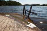 Это уже один из многочисленных заливов Ладоги... кажется, в Куркиёки.