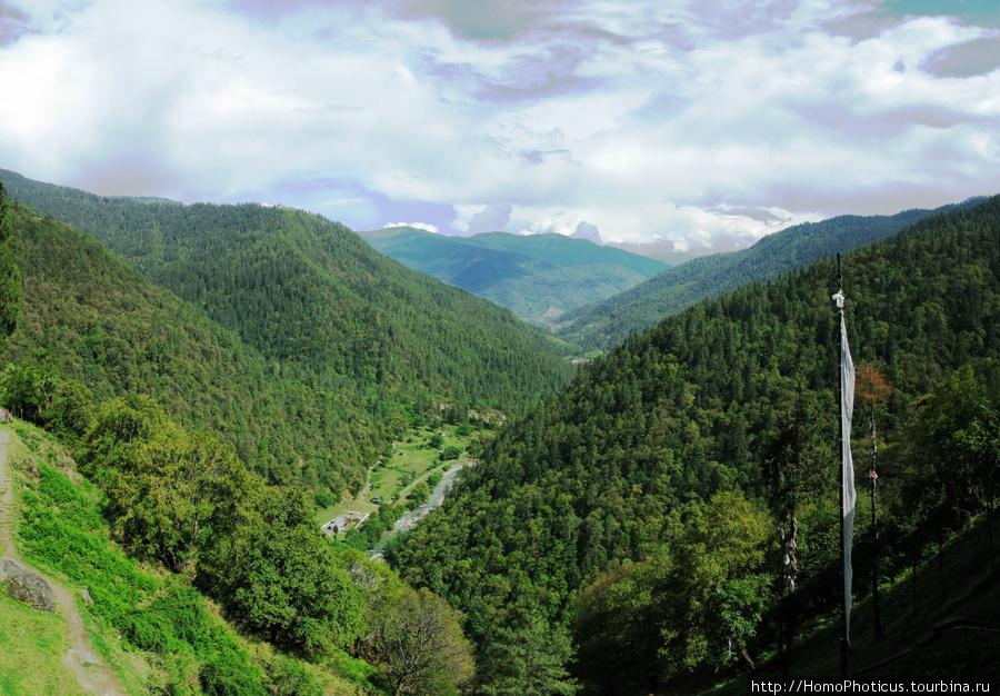 Тхимпху, панорама от монастыря Чери