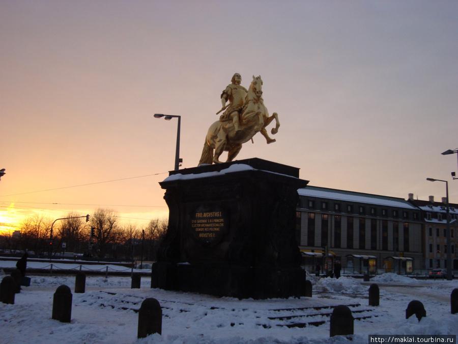 Дрезден. Памятник Августу