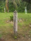Это не Збручский идол, а старый километровый (или мильный) столб