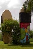 Парамарибо запомнился мне интересными памятниками. Например на набережной стоят огромные шлепанцы!