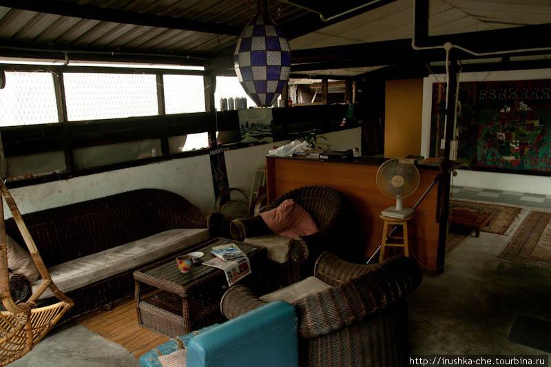 Комната отдыха под крышей