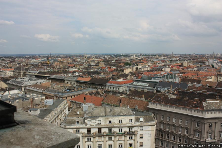 вид на Будапешт с колокольни Базилики Св. Иштвана