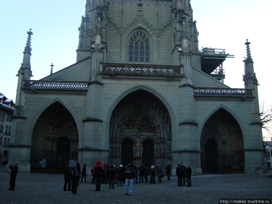 Берн. Фасад кафедрального собора Мюнстер.