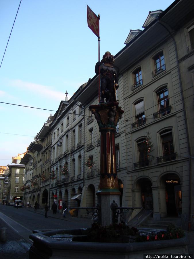 Берн. Средневековый фонтан.