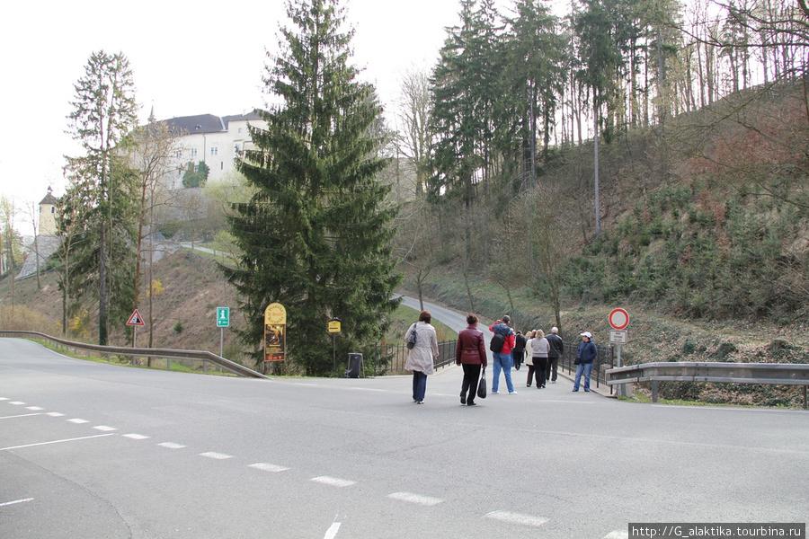 Внешний вид Замка Штейнберг и дорога к нему