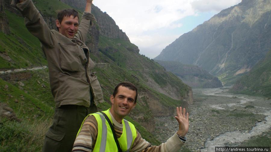 Внизу река Терек
