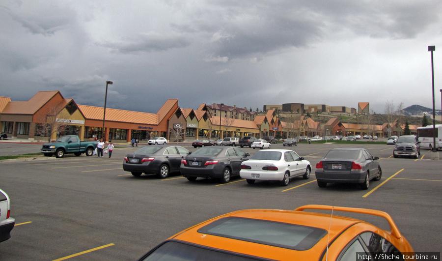 огромная парковка