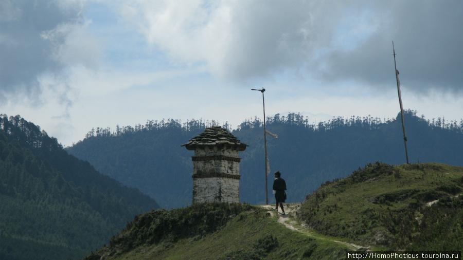Долина Пхобжикха, ступа